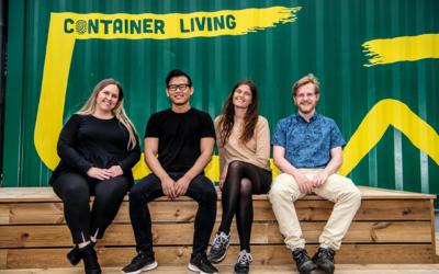 Talentteam sætter fokus på bæredygtigt byggeri hos Container Living
